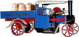 Mamod Steam Wagon - Blue with barrels